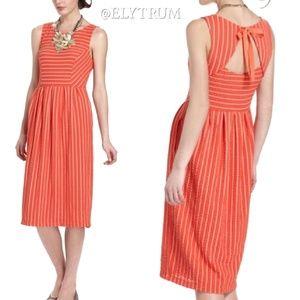 Anthropologie Postmark orange dress seen on TV!
